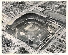 Aerial of Municipal Stadium Kansas City First Game 1955 | by Photoscream