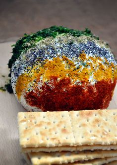 Ricotta Cheese Ball with Spices and Herbs, perfect party appetizer served with crackers or toasts! Yum!