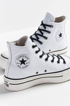 c0245a1df10bee White Platform Converse leather Wedge High Top Lux Club Kicks Custom w   Swarovski Crystal Rhinestone Chuck Taylor All Star Sneakers Shoes
