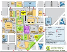 Seattle Center (yes this is a map; too many places for a proper photo). I love, love-love-LOVE Seattle Center. You've got the giant fountain, the Needle, EMP, the monorail, the Children's Museum, etc. Can have a very fun day there.