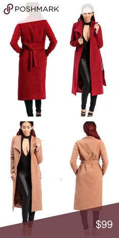 Beautiful trench coat Beautiful trench coat sold separately in red or nude Jackets & Coats Trench Coats