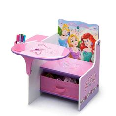 kids chair desk pink kids desk chair PKXBPHM - Home Decor Ideas Childrens Desk And Chair, Desk And Chair Set, Desk Chairs, Diy Furniture Projects, Kids Furniture, Furniture Design, Kids Craft Tables, Candy Theme Birthday Party, Baby Closet Organization