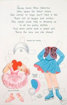 For A Special Girl A Valentine Paper Doll with 10 Outfits 2 of 4