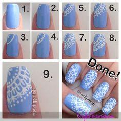 Lace Nail-Art tutorials
