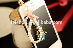 0.1$ - Fashion Crazy Selling custom white bow cell phone dust plugs