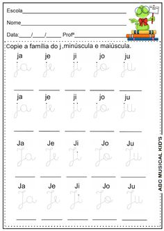 ATIVIDADES DE EDUCAÇÃO INFANTIL  E MUSICALIZAÇÃO INFANTIL: Atividades com letra J