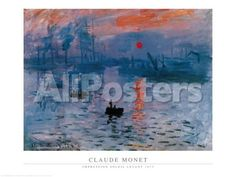 Impression, Sunrise, c.1872 Landscapes Art Print - 80 x 60 cm