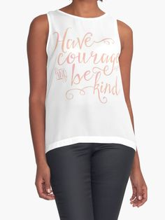 Have Courage and Be Kind (pink colorway) by noondaydesign