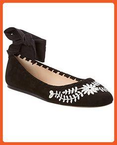 Via Spiga Women's V-BAYLIE2 Ballet Flat, Black Suede, 7 Medium US - Flats for women (*Amazon Partner-Link)