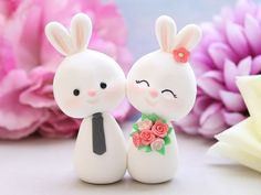 Unique wedding cake toppers Bunnies
