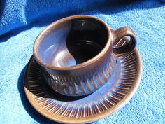 Sweden Gefle Kosmos T E tea coffe pair cup saucer plate Vintage VDN #Gefle