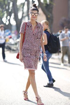 Street Style at Milan Fashion Week S'14. Photo by Anthea Simms.