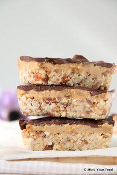 Chocolade pindakaas repen met zeezout - Mind Your Feed