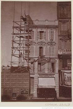 Rue Saint Honoré, Ark, Vintage Photos, Facade, Architecture, Provence, Marseille, 19th Century, Antique Pictures
