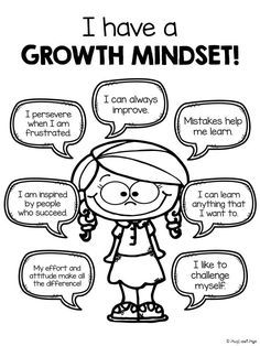 """GROWTH MINDSET: Great resource for introducing elementary students to positive """"self-speak""""                                                                                                                                                     Más"""