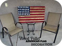Diy: How To Make An American Flag Out Of A Wood Pallet (step By Step Tutorial W…