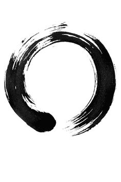 """Enso by Dhrumil, via Flickr.    """"Some artists paint ens with an opening in the circle, while others complete the circle. For the former, the opening may express various ideas, for example that the ens is not separate, but is part of somet.."""