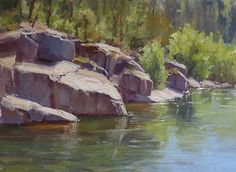 River Run by Kathleen Dunphy Oil ~ 12 x 16 - landscape painting