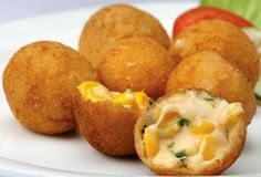 Awesome Cuisine gives you a simple and tasty Cheese Corn Balls Recipe. Try this Cheese Corn Balls recipe and share your experience. No Cook Appetizers, Appetizer Dishes, Appetizer Recipes, Delicious Appetizers, Party Appetizers, Cheese Appetizers, Party Snacks, Appetizer Ideas, Christmas Appetizers
