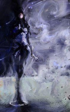 Kasumi Goto Fan Art by Sean Donaldson. Kasumi Goto Fan Art by Sean Donaldson. Tali Mass Effect, Mass Effect Games, Art And Illustration, Kasumi Cosplay, Videogames, Mass Effect Characters, Mass Effect Universe, Video Game Art, Pin Up Illustration
