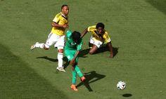 Gervinho (Costa d'Avorio) segna contro la #Colombia #Mondiali2014