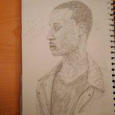 """.. got my mind on the fritz.. #instaart #pencil #portrait #sketchbook #drawing #illustration #youngblackartists #blackart"""