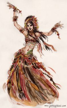 Tribal fusion belly dance woman in skirt - art Estilo Tribal, Arte Tribal, Tribal Belly Dance, Tribal Fusion, Fusion Art, Art Magique, Belly Dancing Classes, Belly Dance Costumes, Lets Dance
