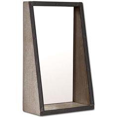 Mercana Efforte II Brown Wood Mirror (Mirrors)