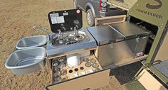 COMMANDER-S | Conqueror Australia Camper with kitchen in pullout drawer.  So you can use it outdoors.