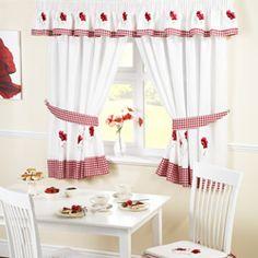 Poppies Kitchen Curtain