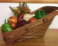 Signed Longaberger Vegetable Basket, 1987