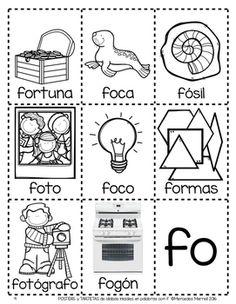 POSTERS y TARJETAS de sílabas iniciales en palabras con m