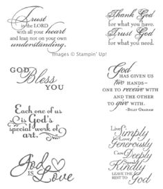 The Trust God Clear-Mount Stamp Set is a seven-piece set which contains perfect sentiments for conveying encouragement that expresses your religious faith. Just the thing for offering support and good cheer to your friends during times of need! $14.95 See how I used it on a card to welcome a new baby here -- http://stampingmadly.com/2013/09/27/welcome-new-baby-card/. www.stampingmadly.com