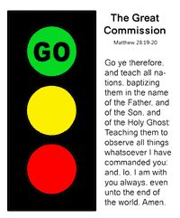 sunday school Traffic Signal bible craft-great commission lesson (perfect for bike week, too!)