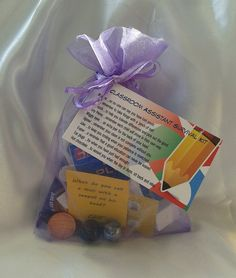Little BAG of BITS: Classroom Assistant Survival Kit - male or female teacher, Christmas gift , end of year or leaving present