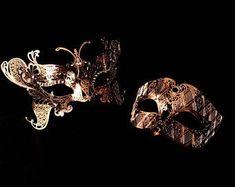 Masquerade Mask Women, Couples Masquerade Mask from USA by HigginsCreek Couples Masquerade Masks, Masquerade Ball, Lace Blindfold, 3d Printed Mask, Masquerade Invitations, Costume Birthday Parties, Steampunk Goggles, Bridal Mask, Lace Ribbon