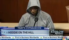 Rep. Bobby Rush (D-Ill.) was kicked out of the House chamber for putting on a hoodie and sunglasses yesterday while delivering a speech about the need for a full investigation into the shooting death of Trayvon Martin. Rep. Rush defended his position on The Kudlow Report last night.    Watch the interview here -- http://cnb.cx/GZxnqP -- and then weigh in.