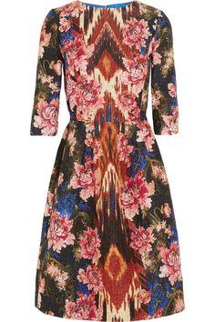 Silk-blend jacquard dress by Oscar de la Renta