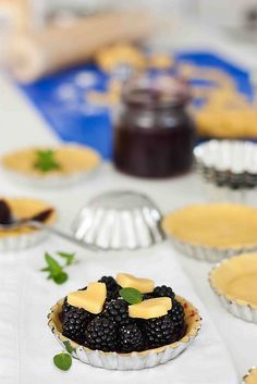 Mini blackberry pies before baking