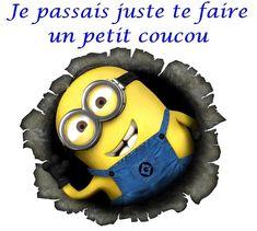 Je passais juste te faire un petit coucou #coucou minions salut ➦➦ http://www.diverint.com/gif-animados-facebook-napoleon-bailando