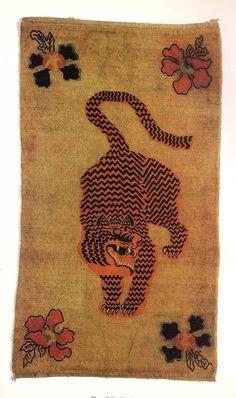 Creative director, Angela Missoni's rainbow color memory album – Rainbow Tibetan Rugs, Tibetan Art, Tiger Rug, Tiger Tiger, Bengal Tiger, Motifs Animal, Memory Album, Textiles, Arte Popular