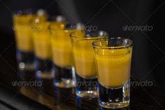 Shots in nightclub ...  alcohol, alcoholic, amber, bar, beverage, booze, celebration, cocktail, dark, distilled, drink, flavor, glass, glassware, gold, juice, liquid, liquor, luxury, macro, mini, nightclub, nightlife, occasion, party, pub, pure, red, restaurant, romantic, rum, shot, shots, strong, table, tequila, up, vodka