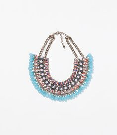 Image 1 of DIAMANTE AND CORD NECKLACE from Zara: $30