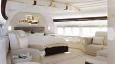 Master Suite Of A VIP Boeing 747 8.