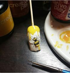 Elegant and Cute Acrylic Nail Designs, unique ideas for you to try in special day or event. Animal Nail Designs, Cute Acrylic Nail Designs, Animal Nail Art, Cute Acrylic Nails, 3d Nail Art, Nail Art Designs, Design Art, Bee Nails, Music Nails