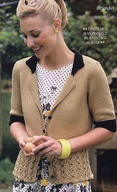 Жакет Ретро из журнала The Knitter.