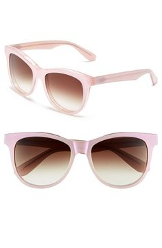 Pink sunglasses for summer.