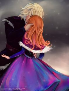 The Romance and Love In this picture shows how deeply Anna is in love with Kristoff