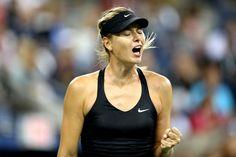Maria Sharapova shows some emotion during her third-round match. - Corey Silvia /usopen.org