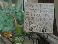 Vinyl Lettering by Susie: Large Tiles....many more available!